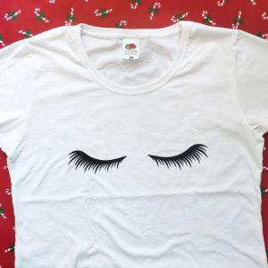 Camiseta Mujer Pestañas