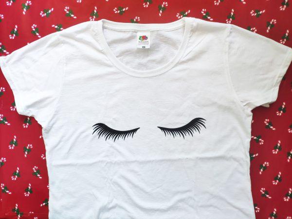 camiseta pestañas
